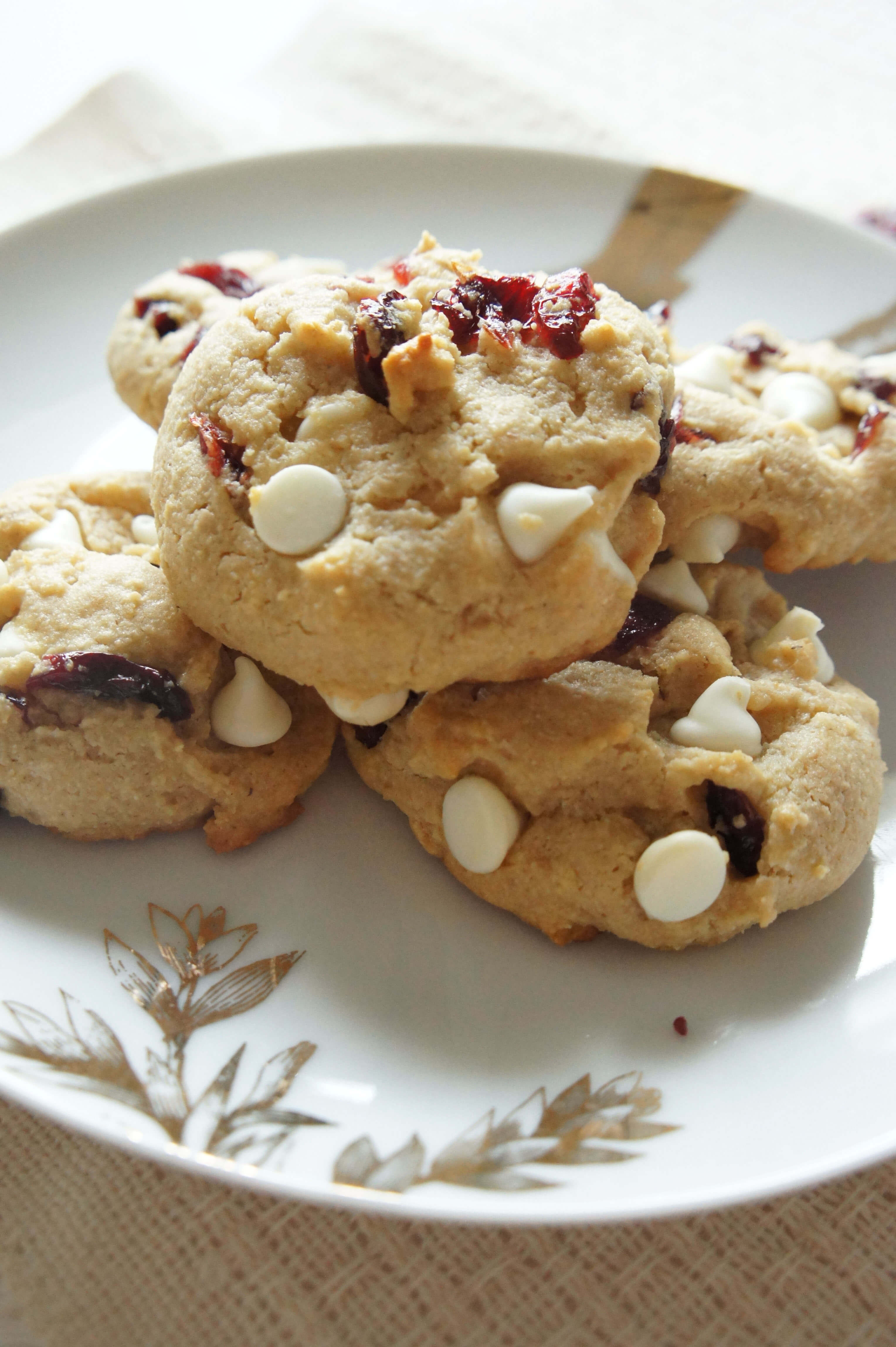 Cranberry White Chocolate Cookies  White Chocolate Cranberry Protein Cookies Uniquely Women