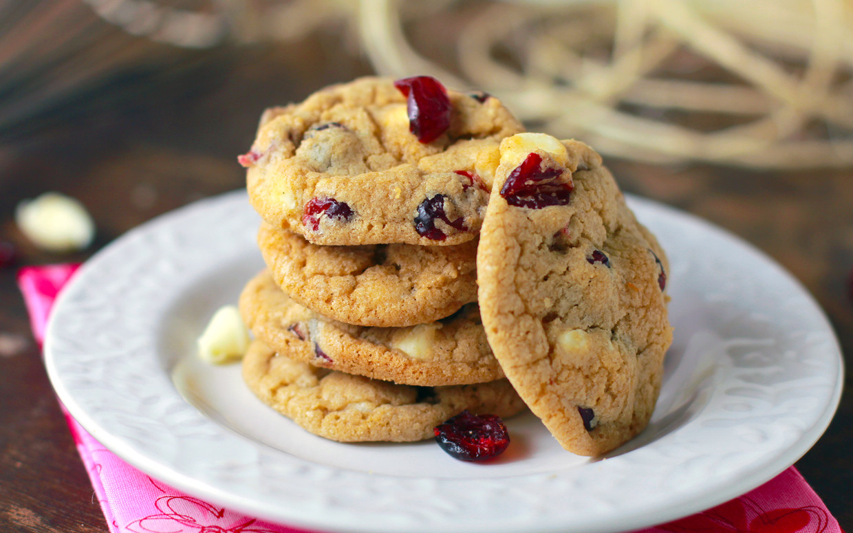 Cranberry White Chocolate Cookies  Simply Blissful Chewy White Chocolate Cranberry Cookies