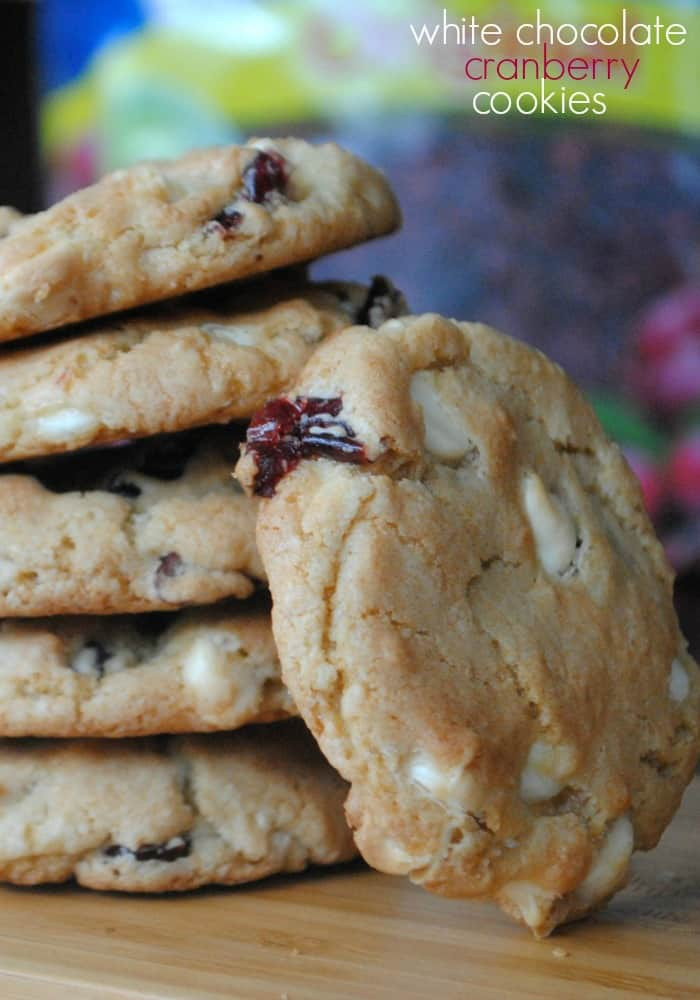 Cranberry White Chocolate Cookies  White Chocolate and Cranberry Cookies Shugary Sweets