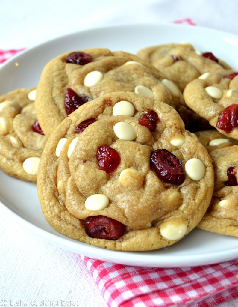 Cranberry White Chocolate Cookies  The Best White Chocolate & Cranberry Cookies — Del s