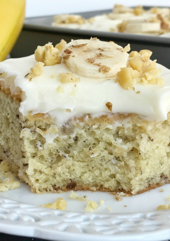 Crazy Banana Cake  Banana Bread Cake with Cream Cheese Frosting To her as
