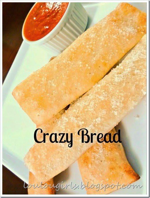 Crazy Bread Recipe  Crazy Bread Copycat Recipe Lou Lou Girls