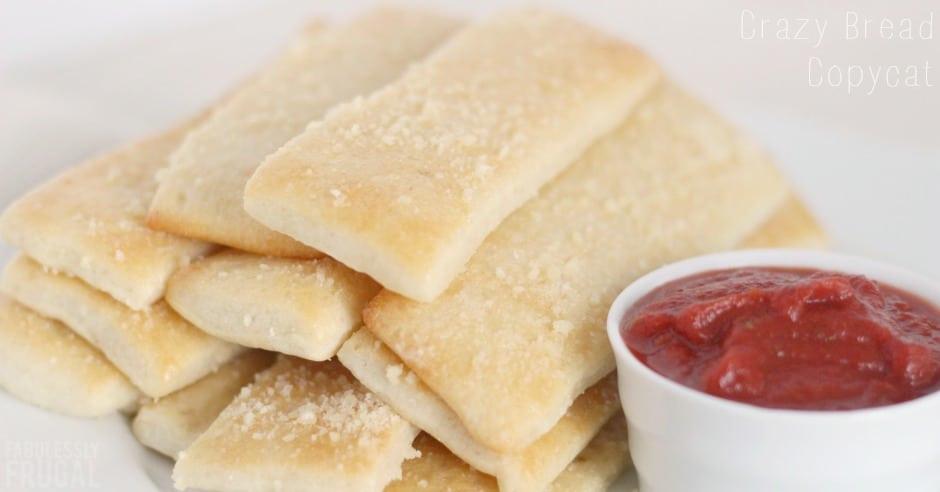 Crazy Bread Recipe  Little Caesar s Crazy Bread Copycat Recipe Fabulessly Frugal