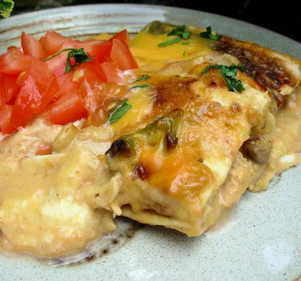 Cream Cheese Chicken Enchiladas  The Secret Recipe Club Cream Cheese Chicken Enchiladas