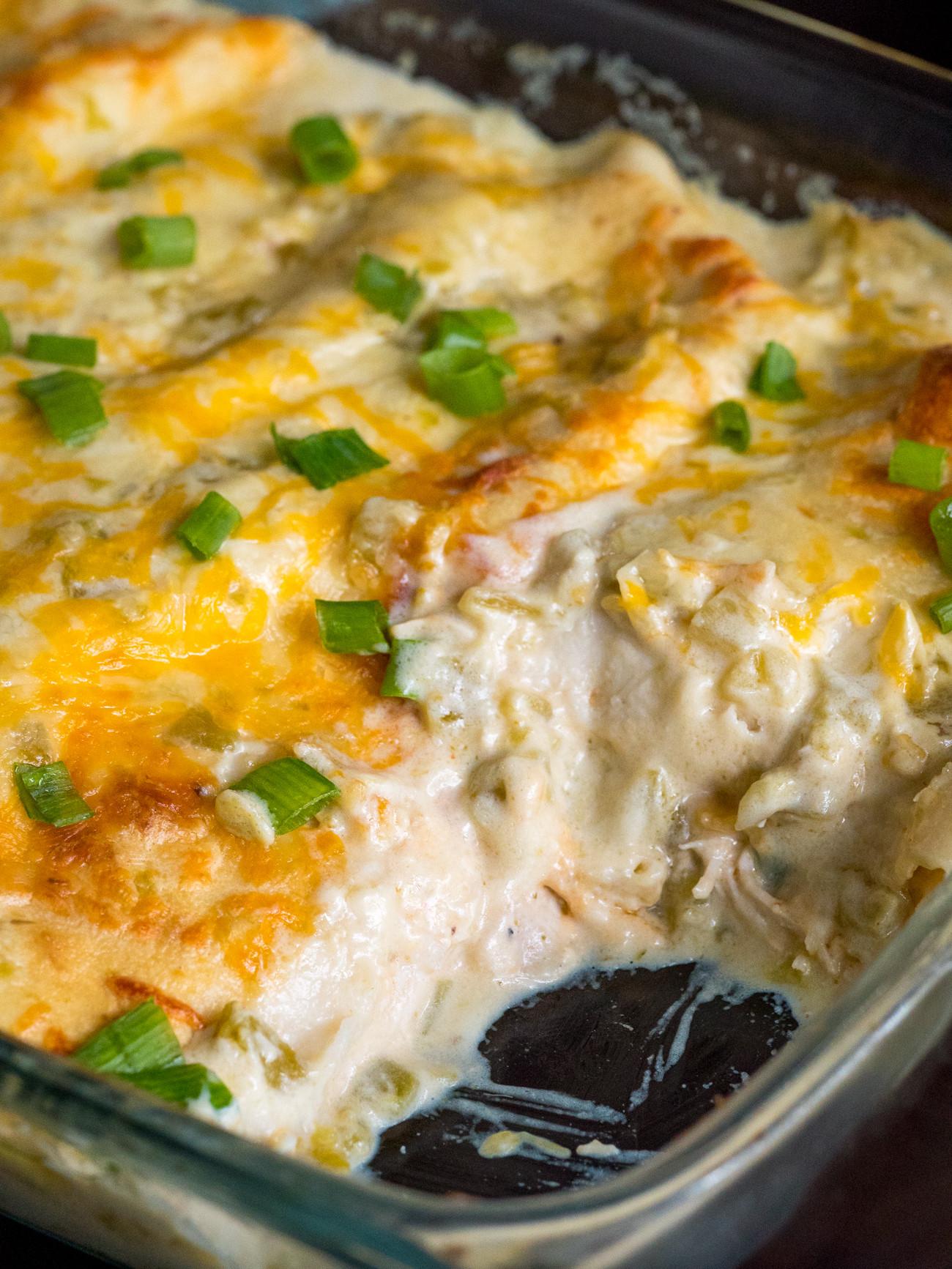 Cream Cheese Chicken Enchiladas  Cream Cheese Chicken Enchiladas – 12 Tomatoes