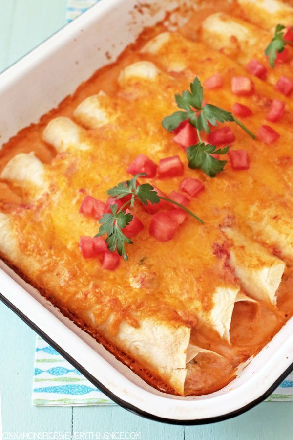 Cream Cheese Chicken Enchiladas  Cream Cheese Chicken Enchiladas