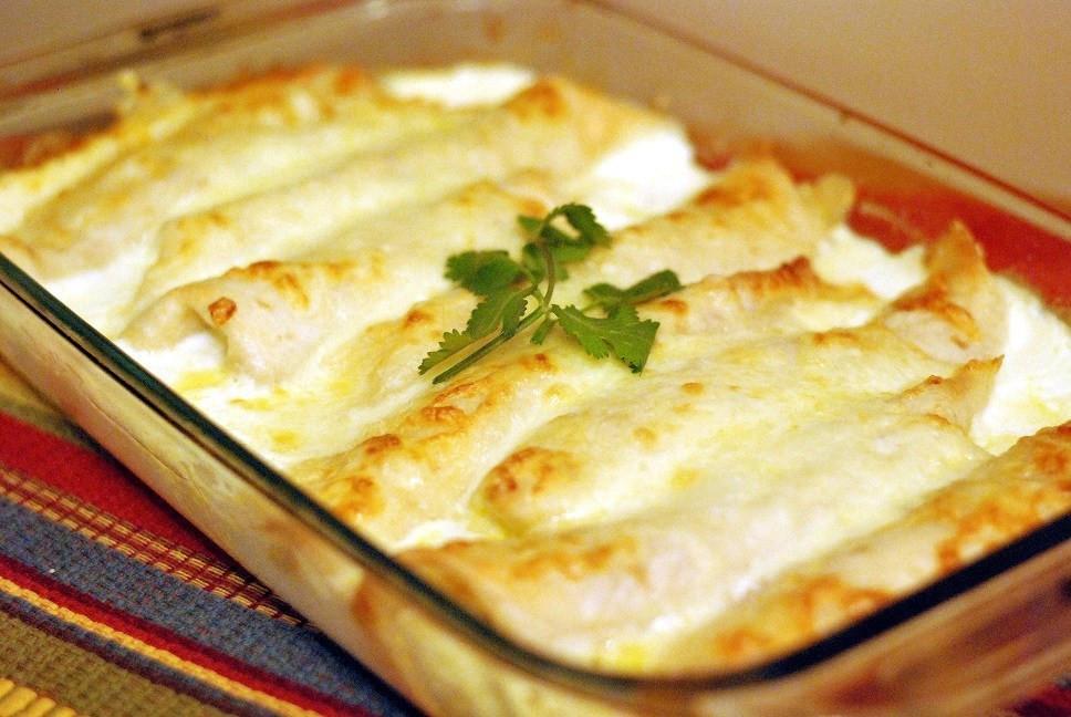 Cream Cheese Chicken Enchiladas  Caramelized ion and Cream Cheese Chicken Enchilidas