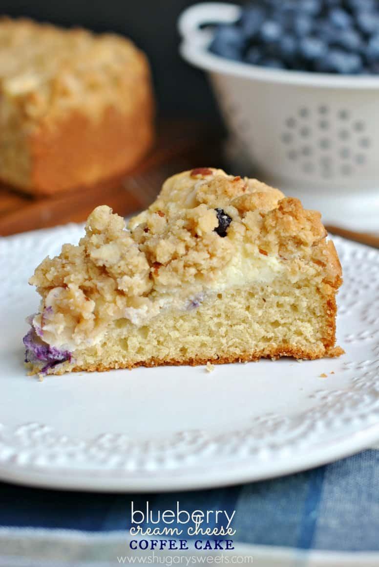 Cream Cheese Coffee Cake  Blueberry Cream Cheese Coffee Cake Shugary Sweets