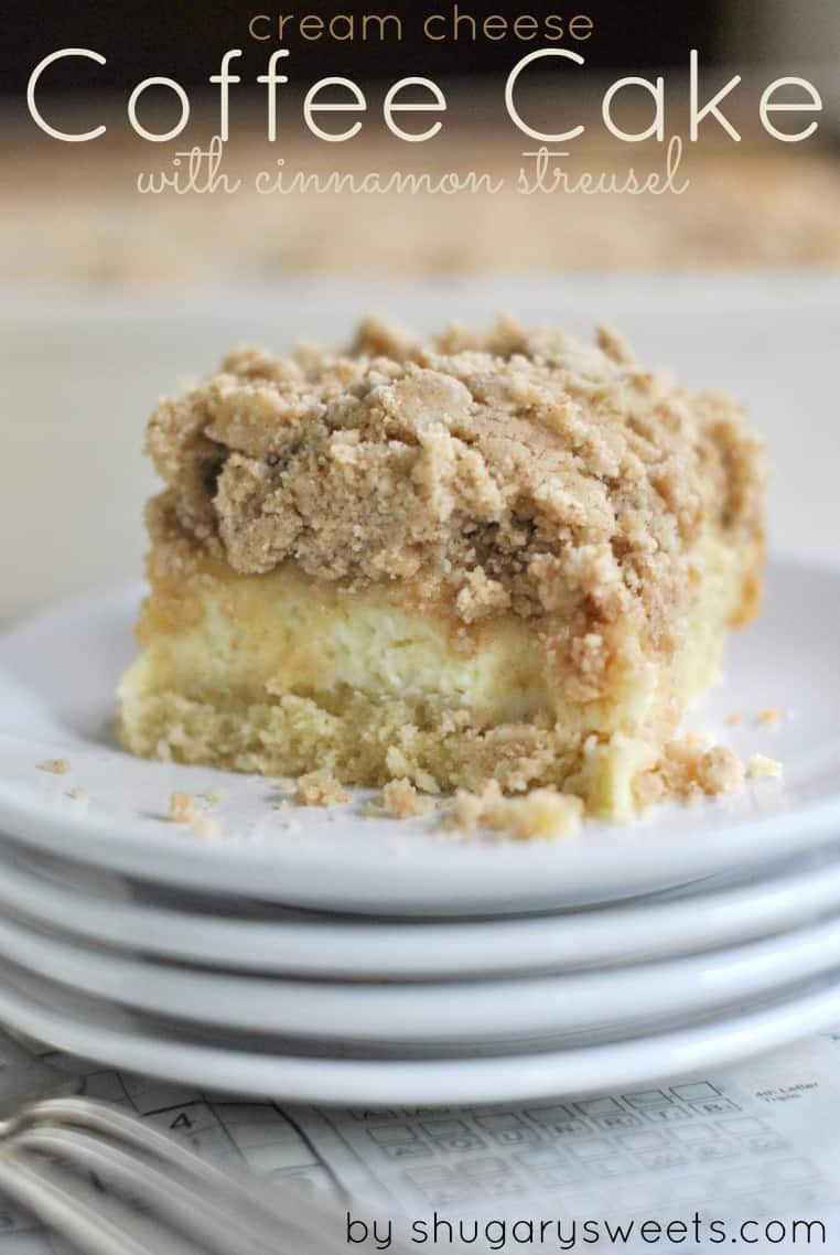 Cream Cheese Coffee Cake  Cream Cheese Coffee Cake Shugary Sweets