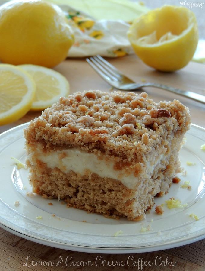 Cream Cheese Coffee Cake  Lemon & Cream Cheese Coffee Cake