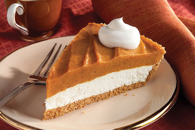 Cream Cheese Pumpkin Pie  Creamy Two Layer Pumpkin Pie Kraft Recipes