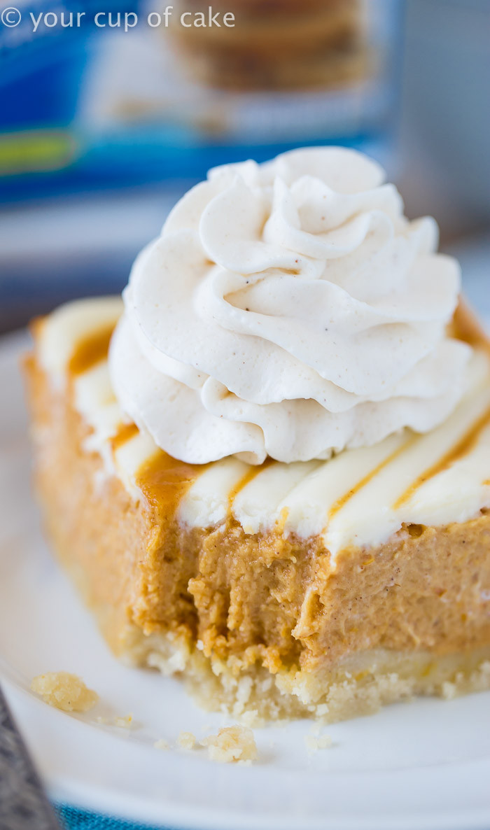 Cream Cheese Pumpkin Pie  Pumpkin Cream Cheese Pie Bars Your Cup of Cake