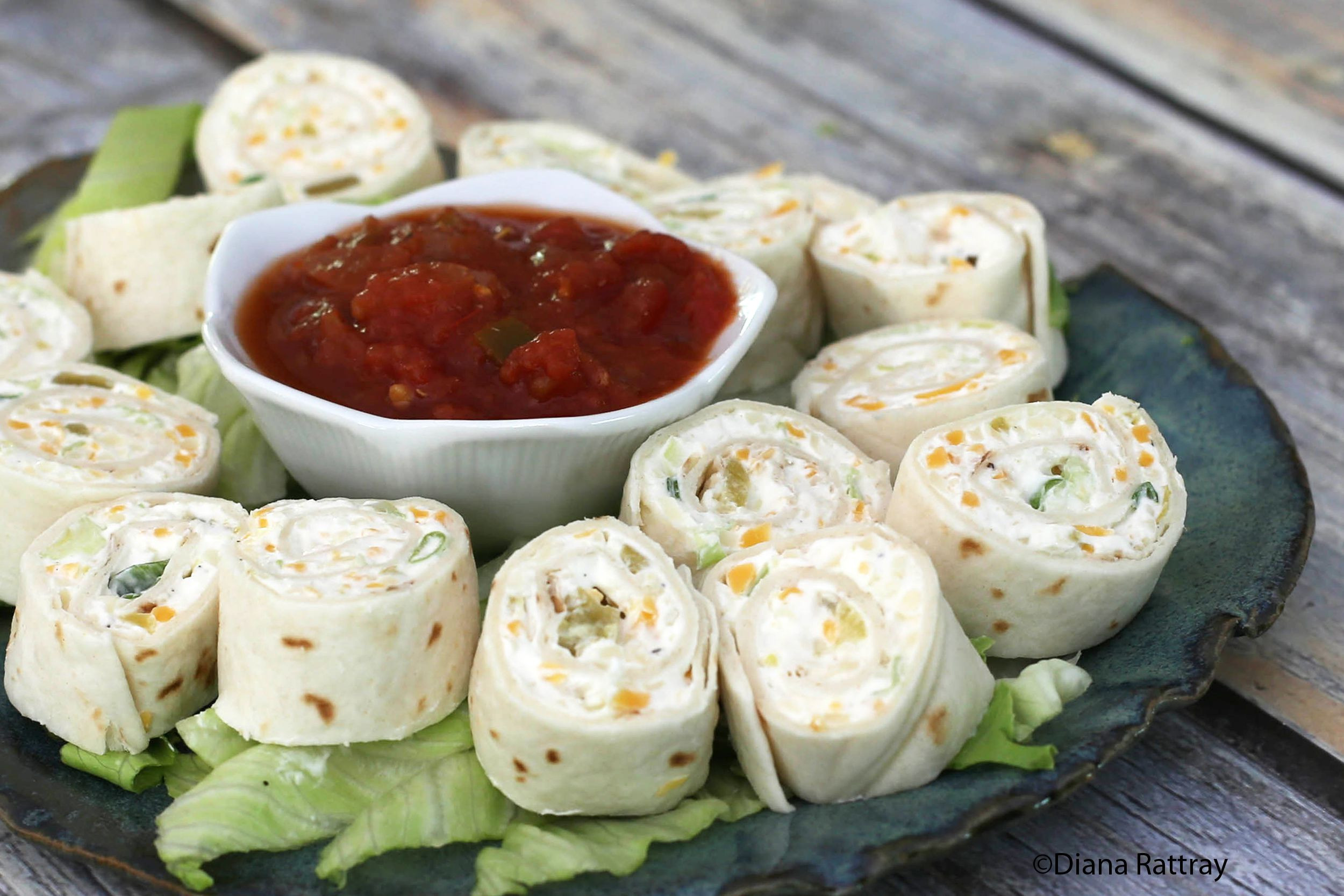 Cream Cheese Recipes Appetizers  tortilla pinwheels with cream cheese and sour cream