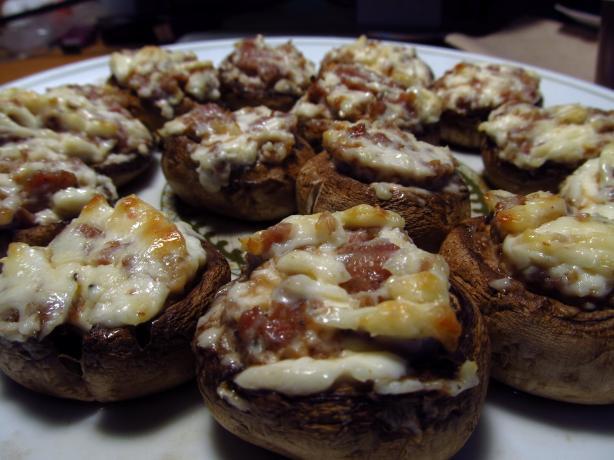 Cream Cheese Stuffed Mushrooms  Stuffed Mushrooms With Cream Cheese & Sausage Recipe My