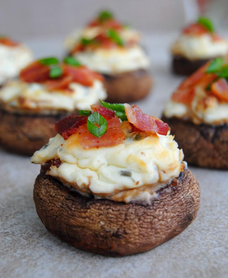 Cream Cheese Stuffed Mushrooms  SteakNPotatoesKindaGurl Bacon and Spicy Cream Cheese