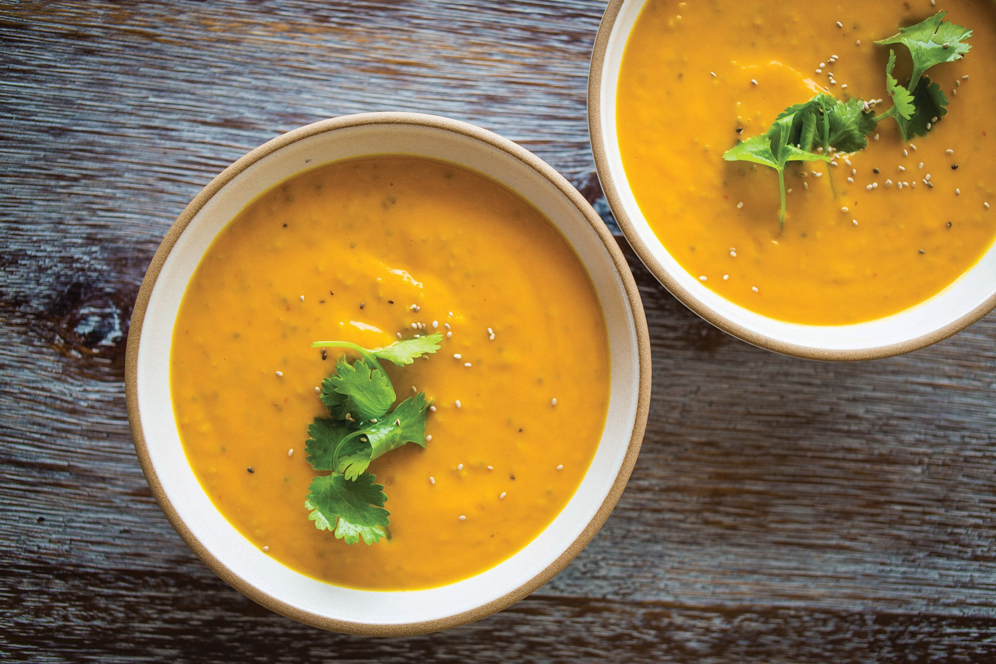 Cream Of Carrot Soup  Creamy Chia Coconut Ginger Carrot Soup recipe