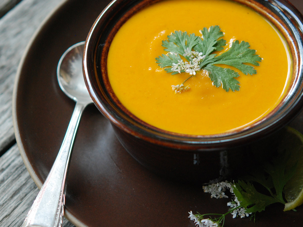 Cream Of Carrot Soup  Cream of Carrot Soup with Ginger and Curry Recipe Andrew