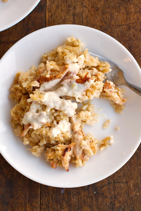 Cream Of Chicken And Rice Casserole  Chicken and Rice Casserole Recipe Pinch of Yum