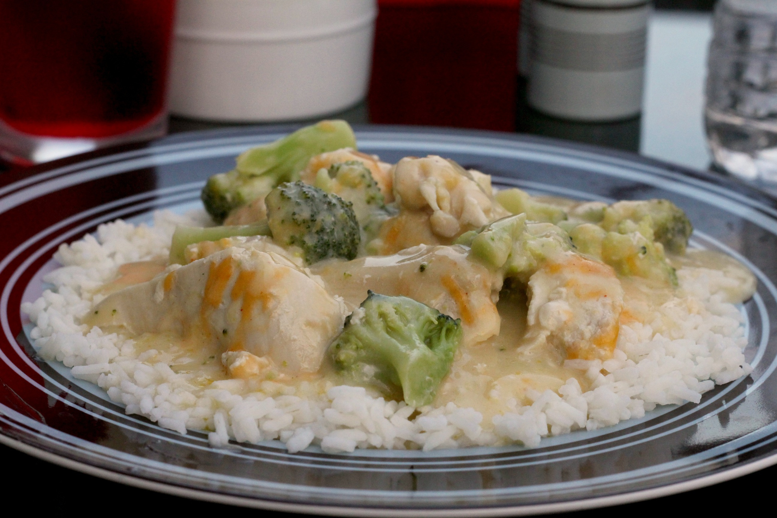 Cream Of Chicken And Rice Casserole  Creamy Chicken & Broccoli Over Rice
