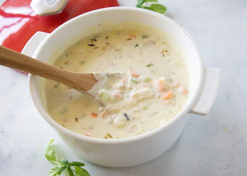 Cream Of Chicken And Rice Soup  light cream of chicken and wild rice soup