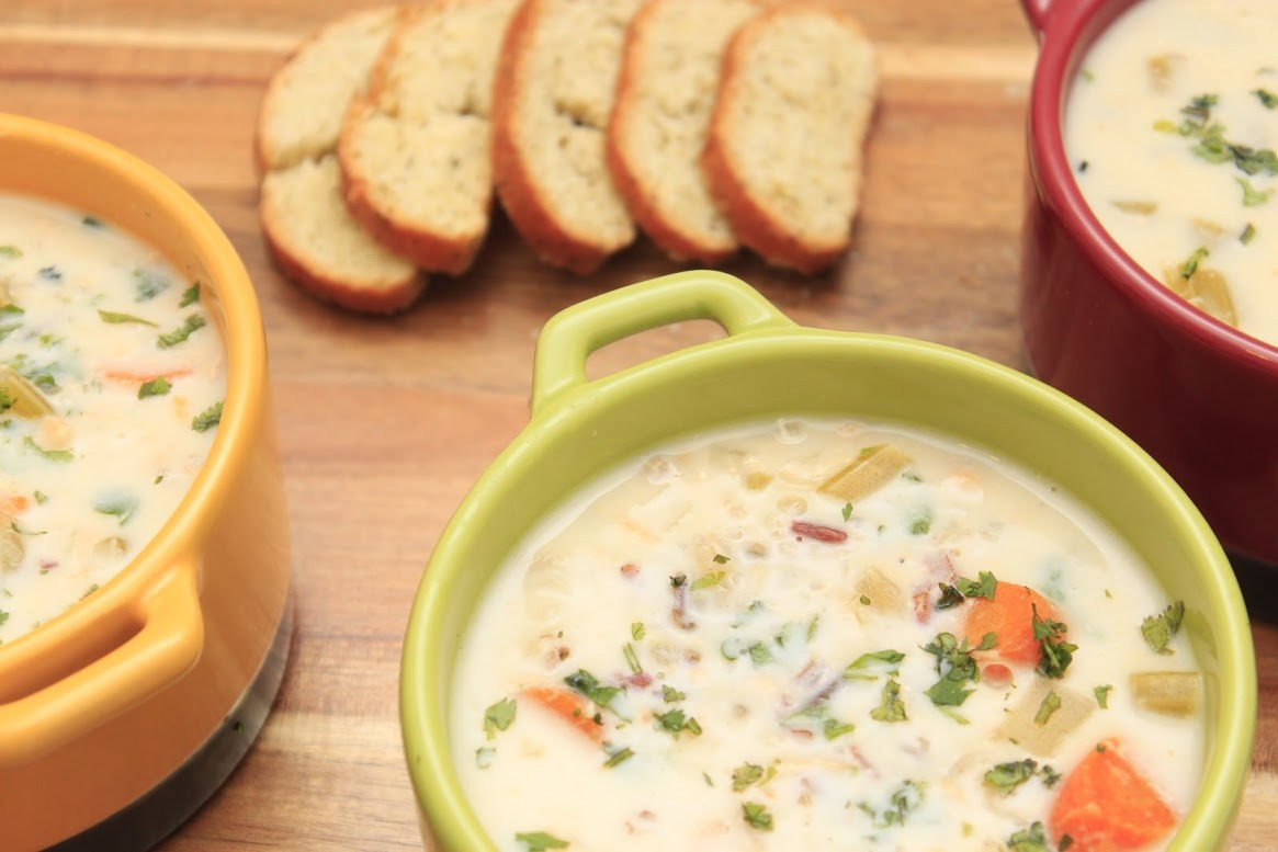 Cream Of Chicken And Rice Soup  Slow Cooker Cream of Chicken and Wild Rice Soup Life