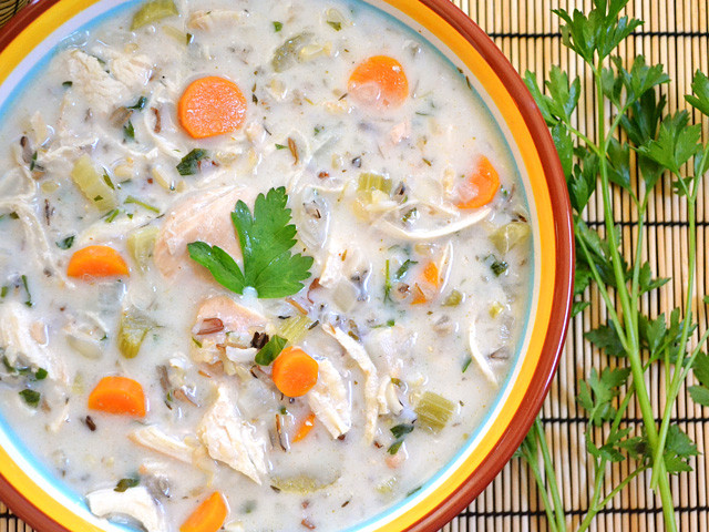 Cream Of Chicken And Rice Soup  creamy chicken & rice soup Bud Bytes