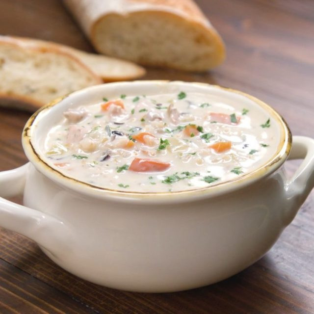 Cream Of Chicken And Rice Soup  Creamy Chicken and Wild Rice Soup Recipe & Video