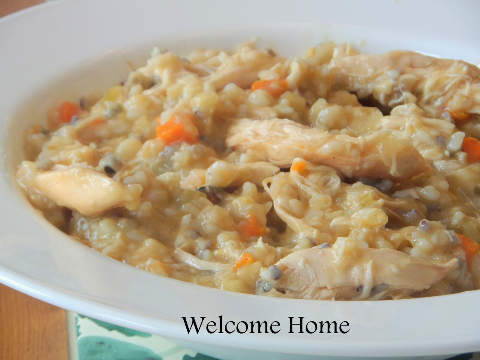 Cream Of Chicken And Rice Soup  Wel e Home Blog ♥ Cream of Turkey and Rice Soup