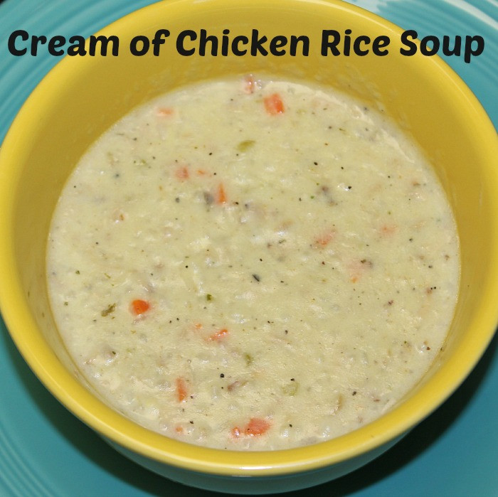 Cream Of Chicken And Rice Soup  Cream of Chicken Rice Soup Recipe