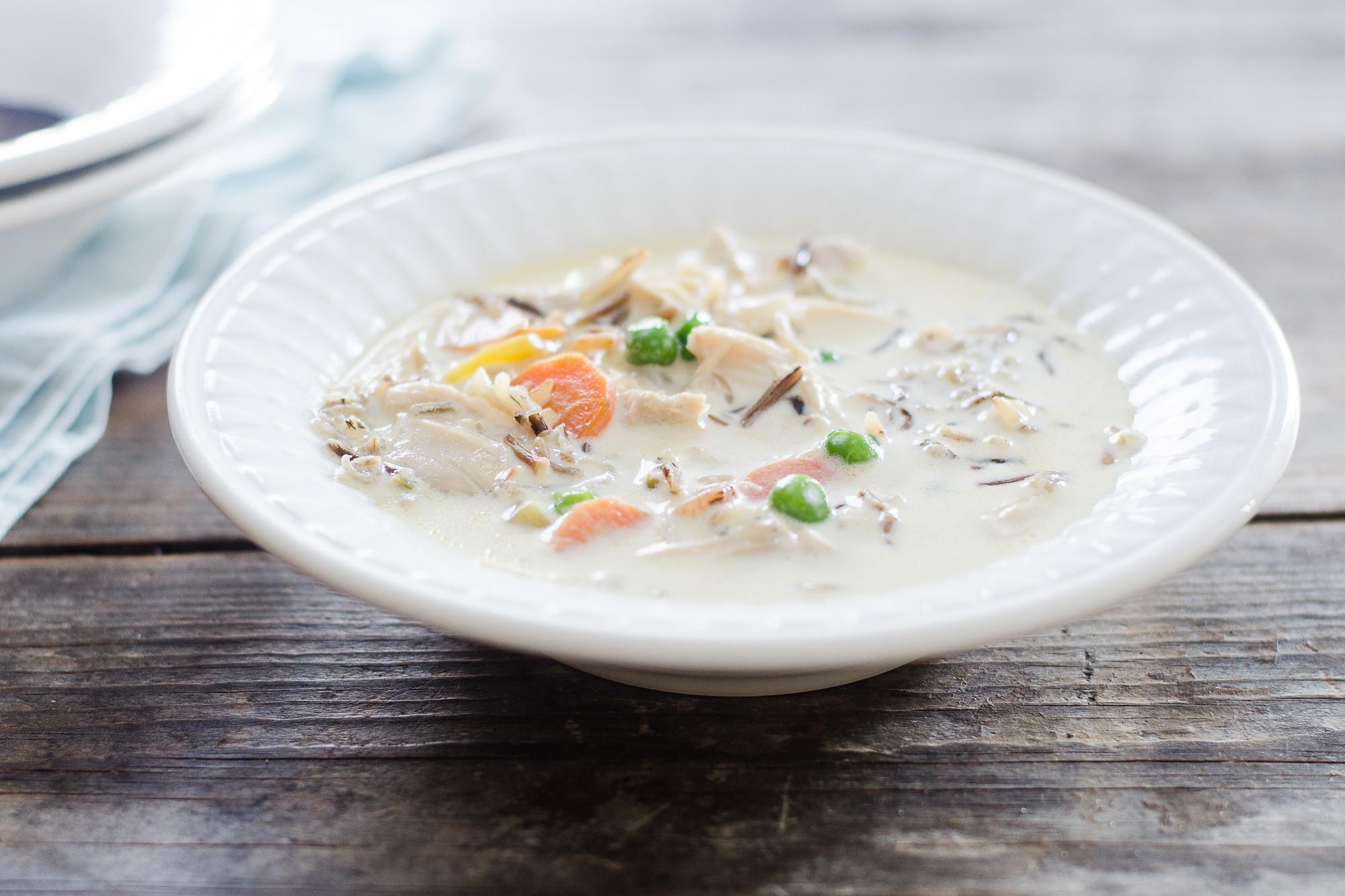 Cream Of Chicken And Wild Rice Soup  Creamy Chicken Wild Rice Soup