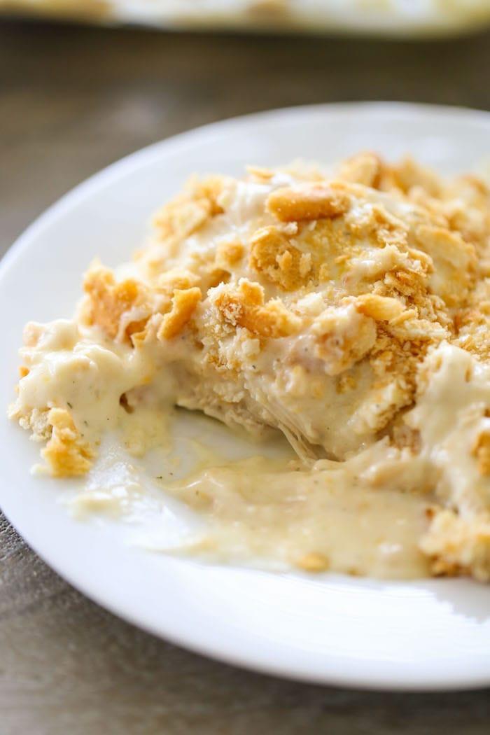 Cream Of Chicken Casserole  Creamy Ranch Chicken Casserole