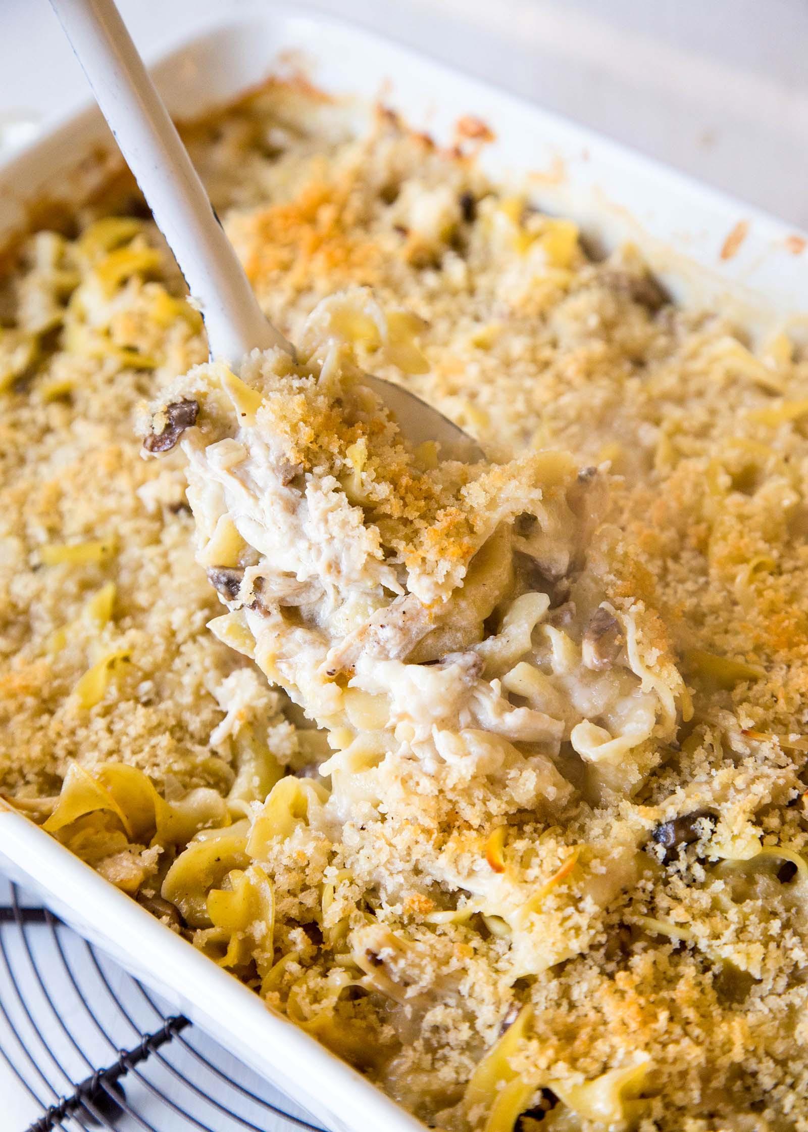 Cream Of Chicken Casserole  creamy chicken noodle casserole