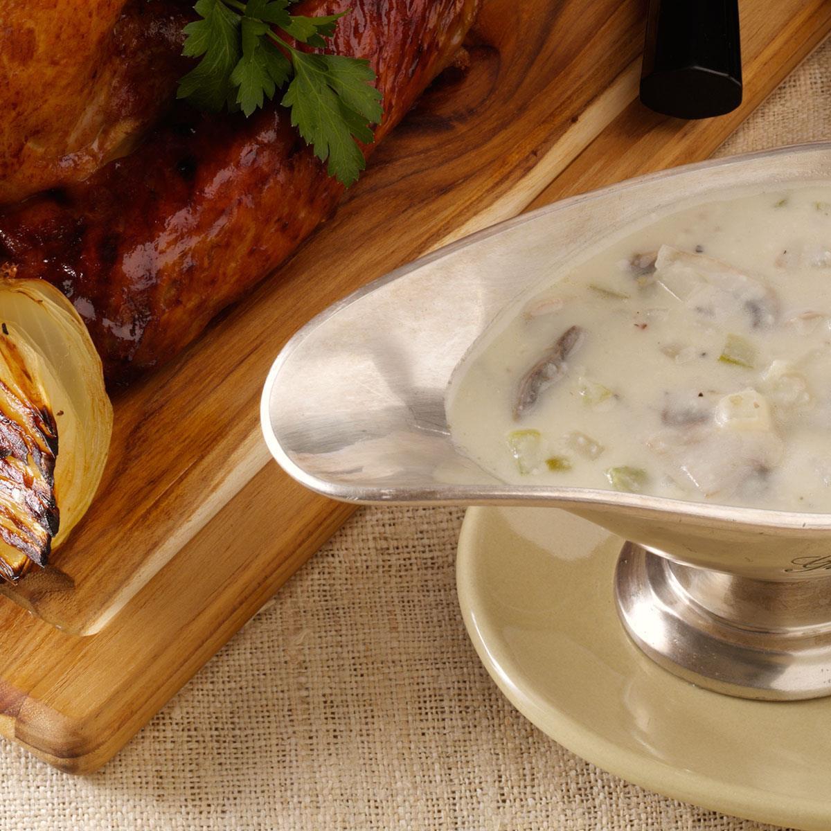 Cream Of Mushroom Gravy  Mushroom Sour Cream Gravy Recipe