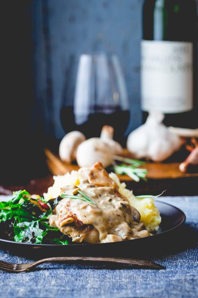 Cream Of Mushroom Gravy  pork chops with creamy mushroom gravy Healthy Seasonal