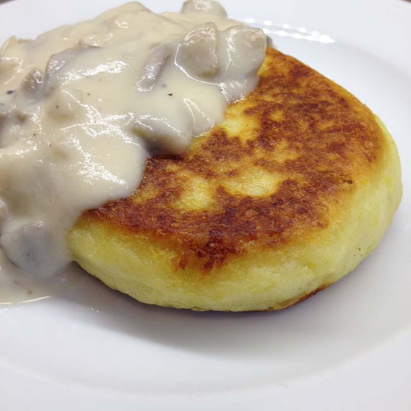 Cream Of Mushroom Gravy  POTATO PANCAKES WITH MUSHROOMS AND VEGGIES
