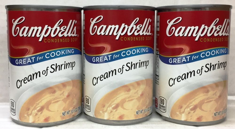 Cream Of Shrimp Soup  Campbell s Cream of Shrimp Condensed Soup 3 Cans Campbells