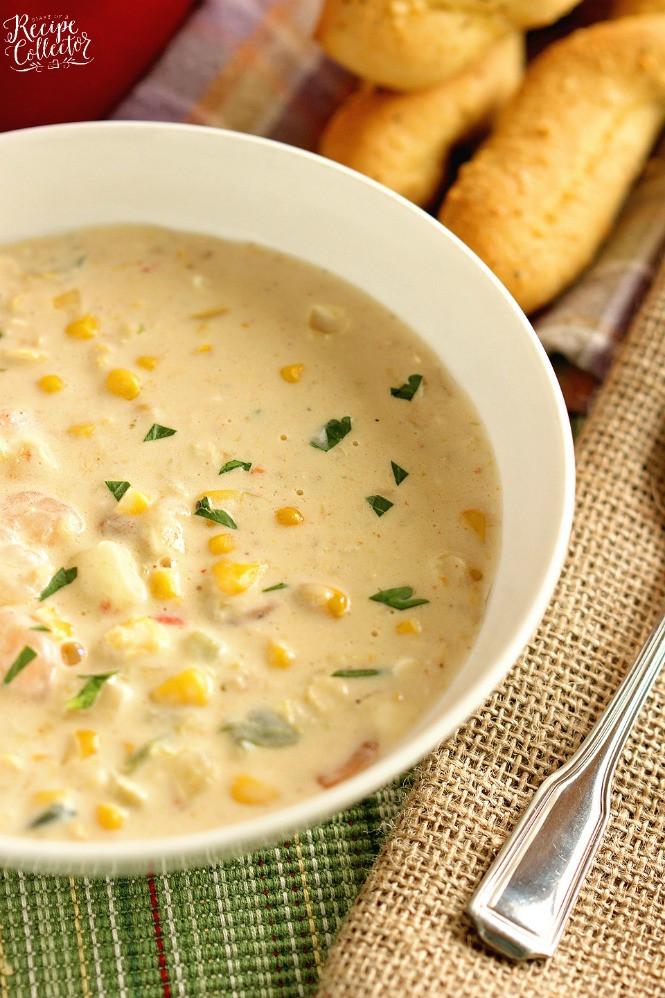 Cream Of Shrimp Soup  Creamy Shrimp & Corn Soup Diary of A Recipe Collector