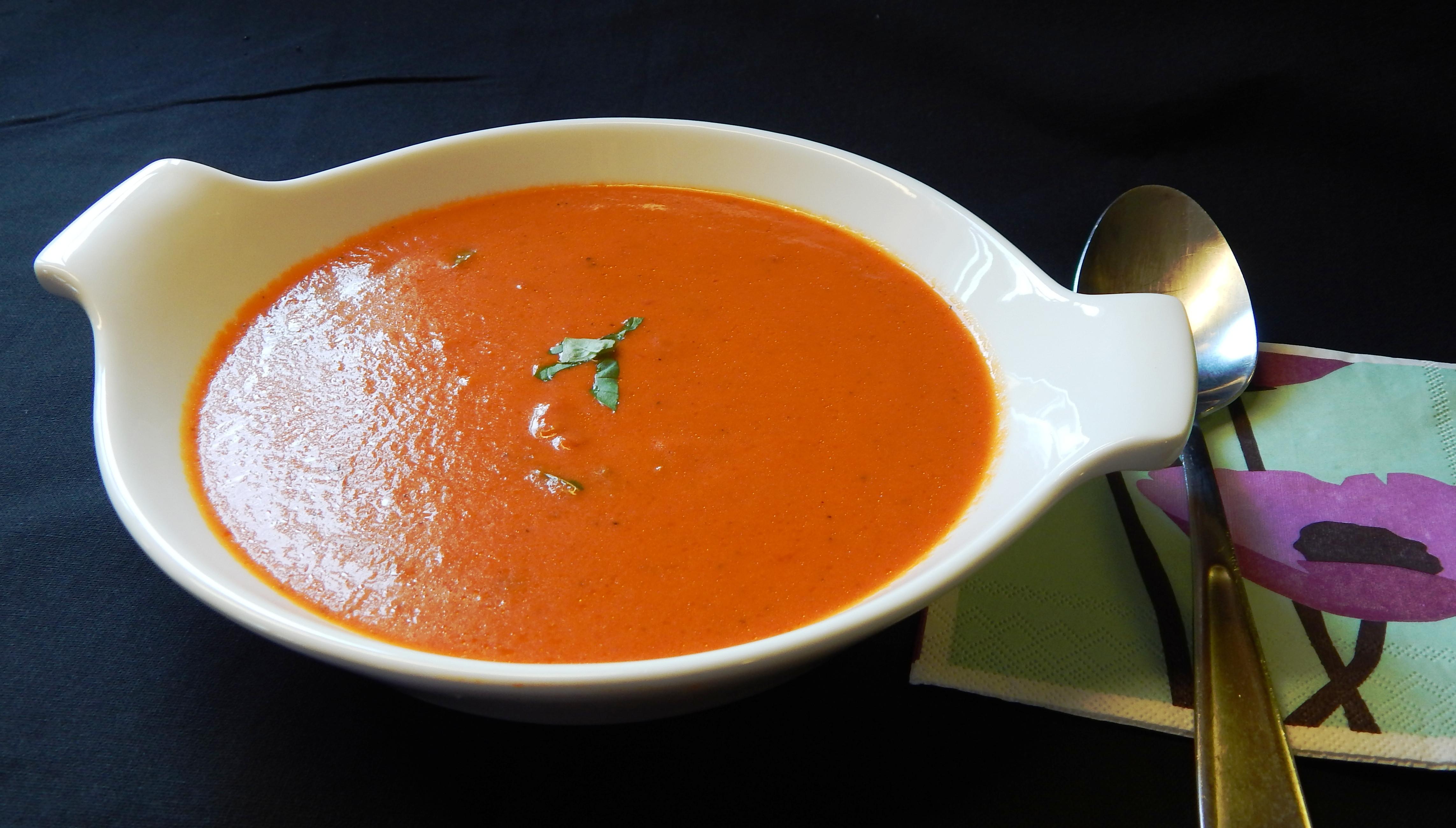 Cream Of Tomato Soup  Crock Pot Cream of Tomato Basil Soup