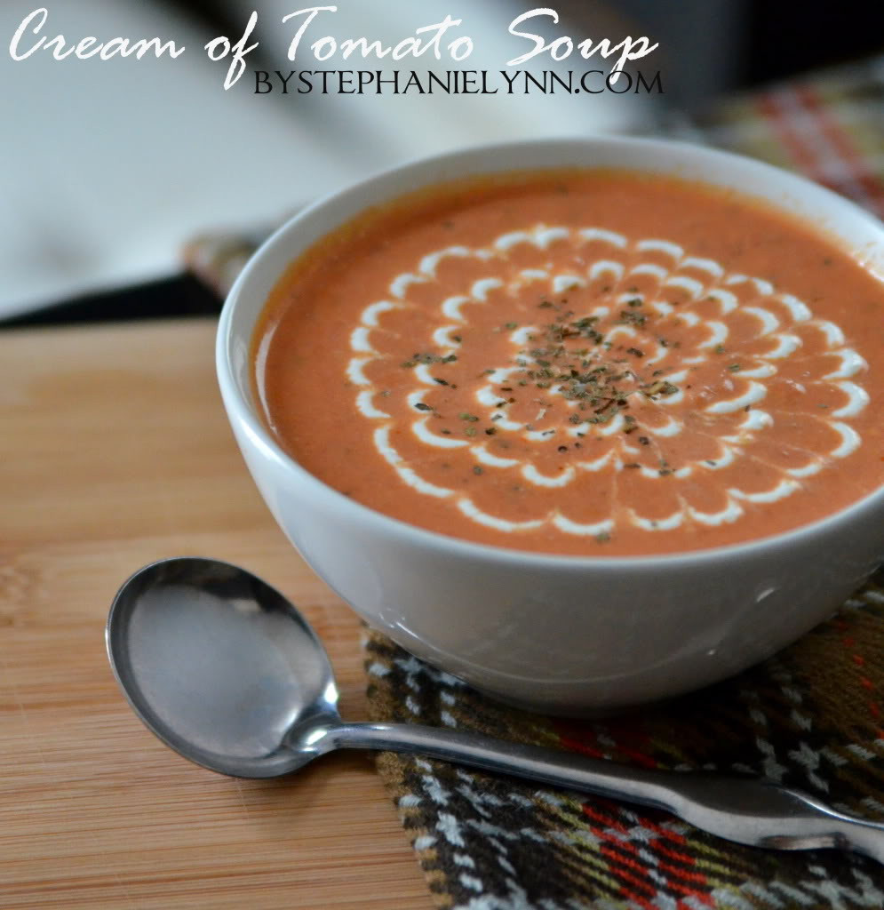 Cream Of Tomato Soup  Homemade Cream of Tomato Soup Recipe bystephanielynn