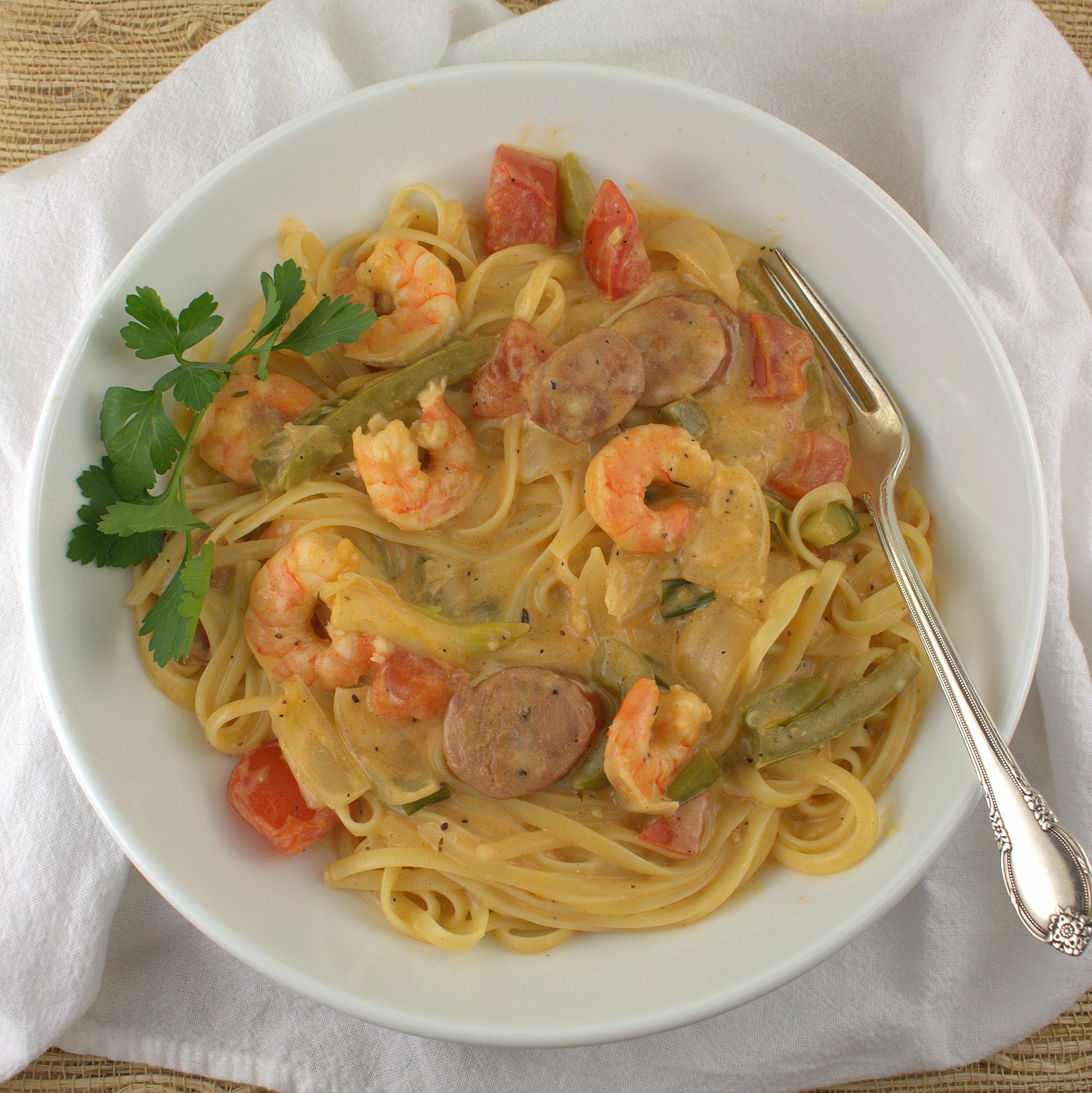 Creamy Cajun Shrimp Pasta  Creamy Cajun Shrimp Pasta FishFridayFoo s