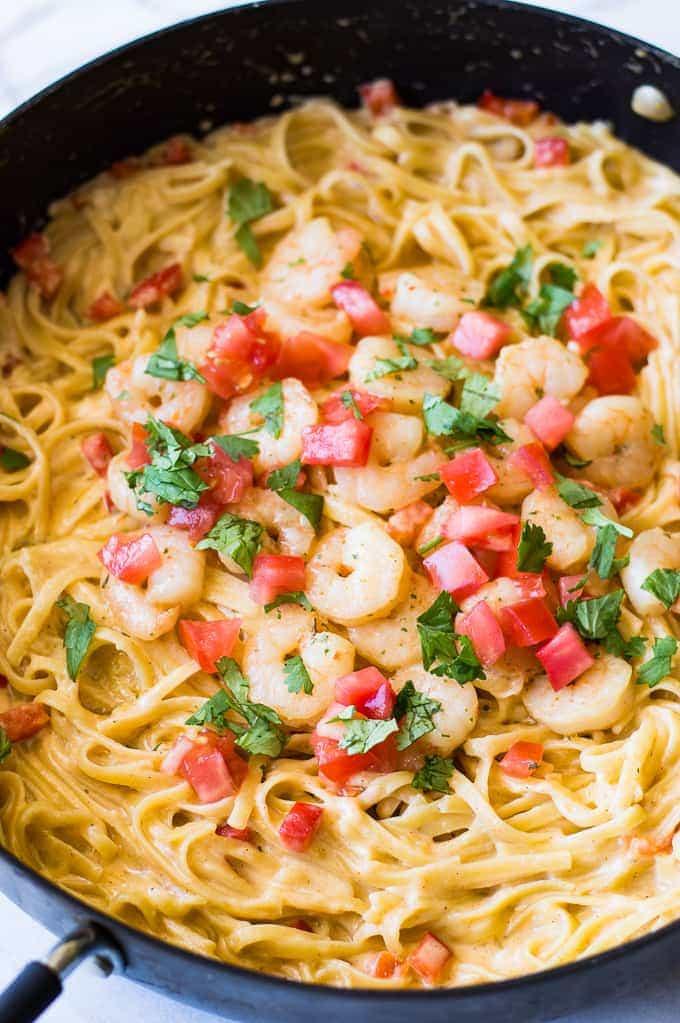 Creamy Cajun Shrimp Pasta  Creamy Cajun Shrimp Pasta House of Yumm