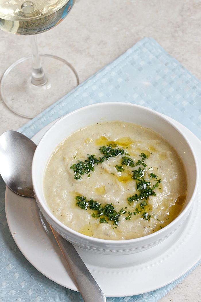 Creamy Cauliflower Soup  Creamy Cauliflower Soup Belle Vie