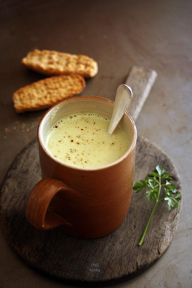 Creamy Cauliflower Soup  Kremowa zupa kalafiorowa z curry