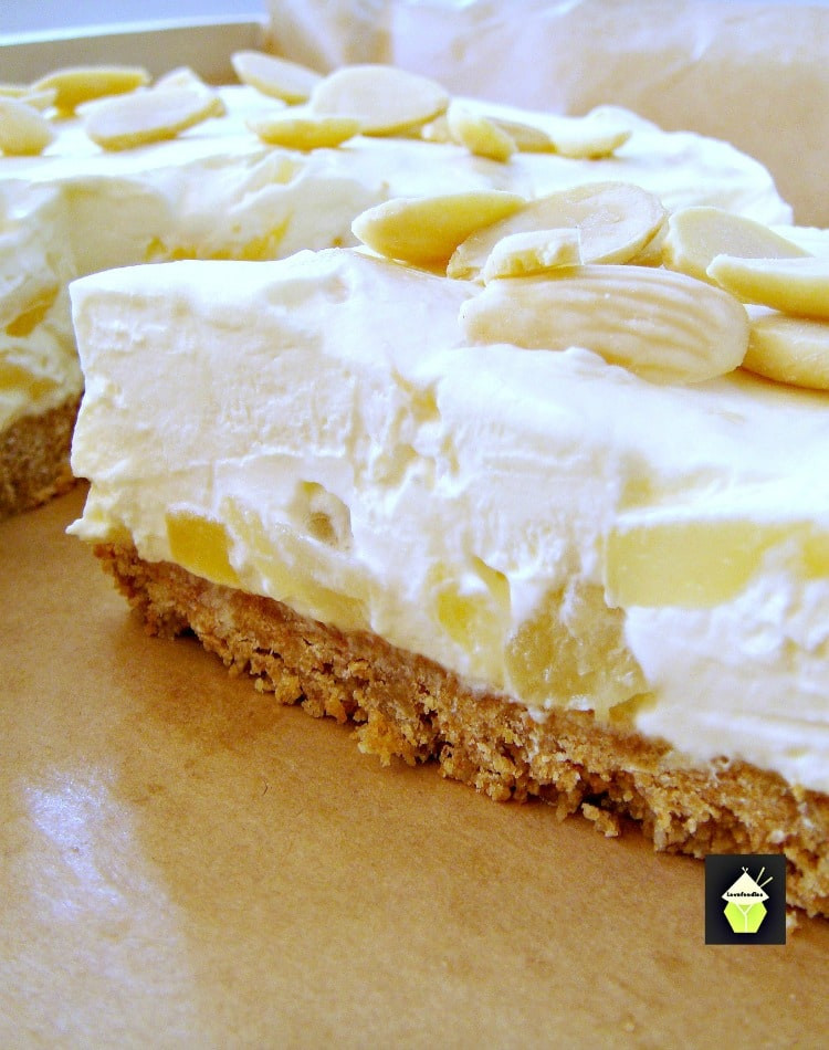 Creamy Cheesecake Recipe  Creamy Pineapple Cheesecake bursting with juicy pineapple