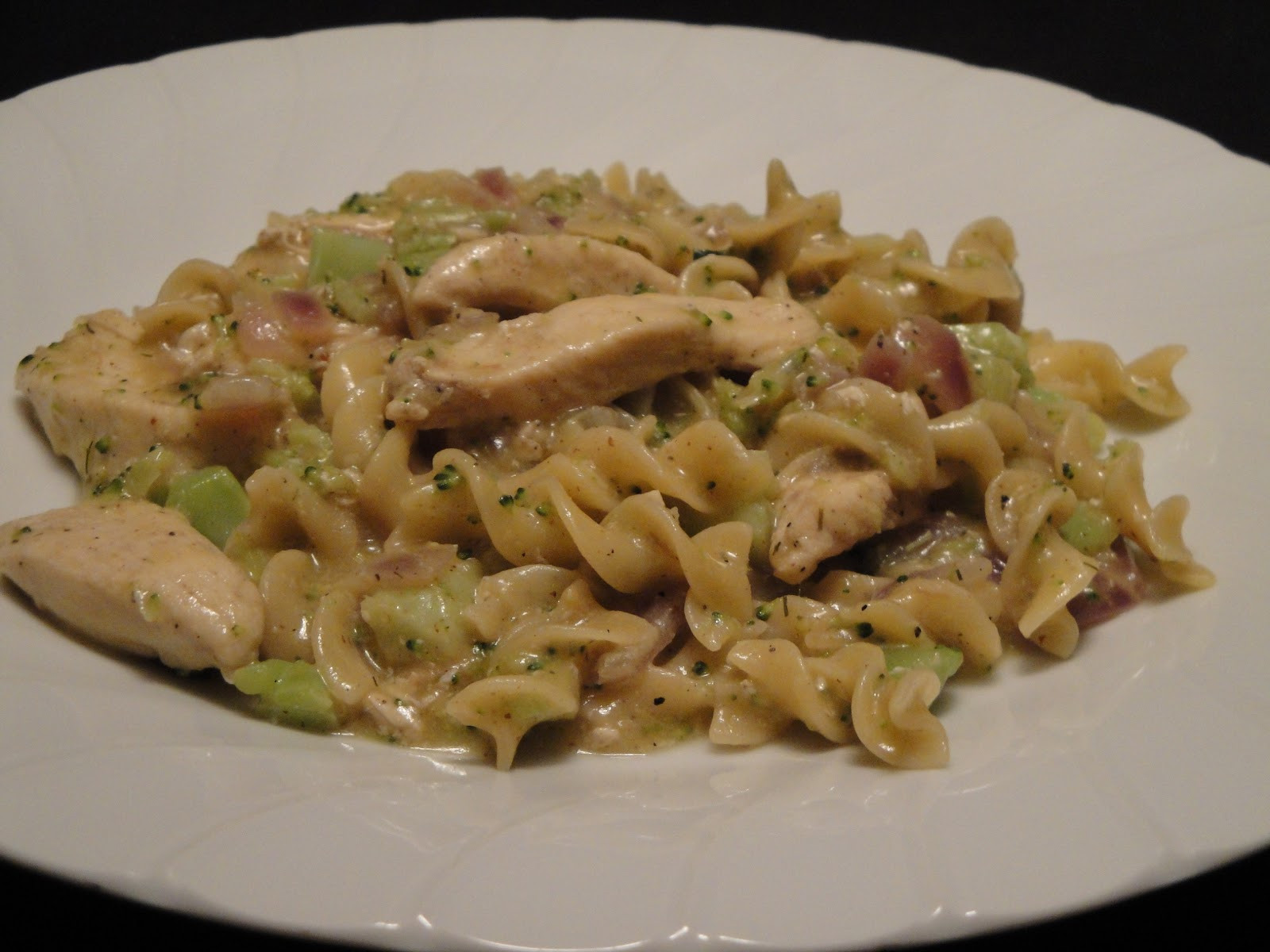 Creamy Chicken And Noodles  Christine s Pantry March 2012