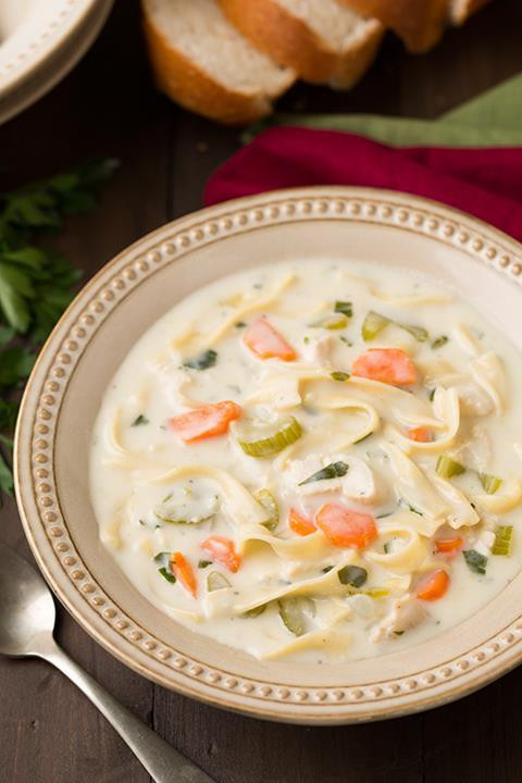 Creamy Chicken Noodle Soup Recipe  Creamy Chicken Noodle Soup – Just Imagine – Daily Dose of