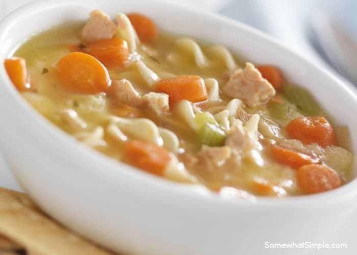 Creamy Chicken Noodle Soup Recipe  Crock Pot Creamy Chicken Noodle Soup Somewhat Simple