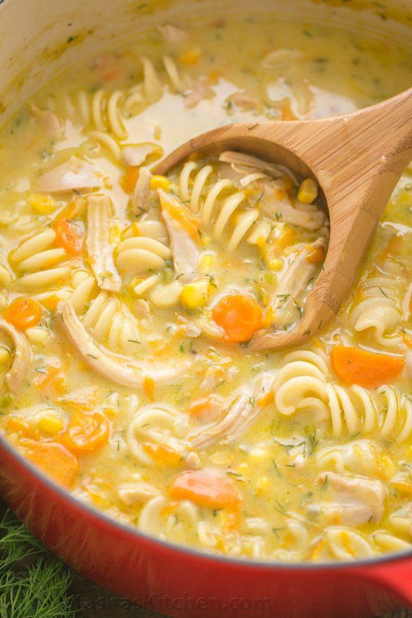 Creamy Chicken Noodle Soup  Creamy Chicken Noodle Soup Recipe NatashasKitchen