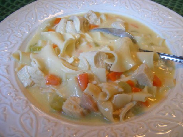 Creamy Chicken Noodle Soup  Favorite Creamy Chicken Noodle Soup Recipe Food