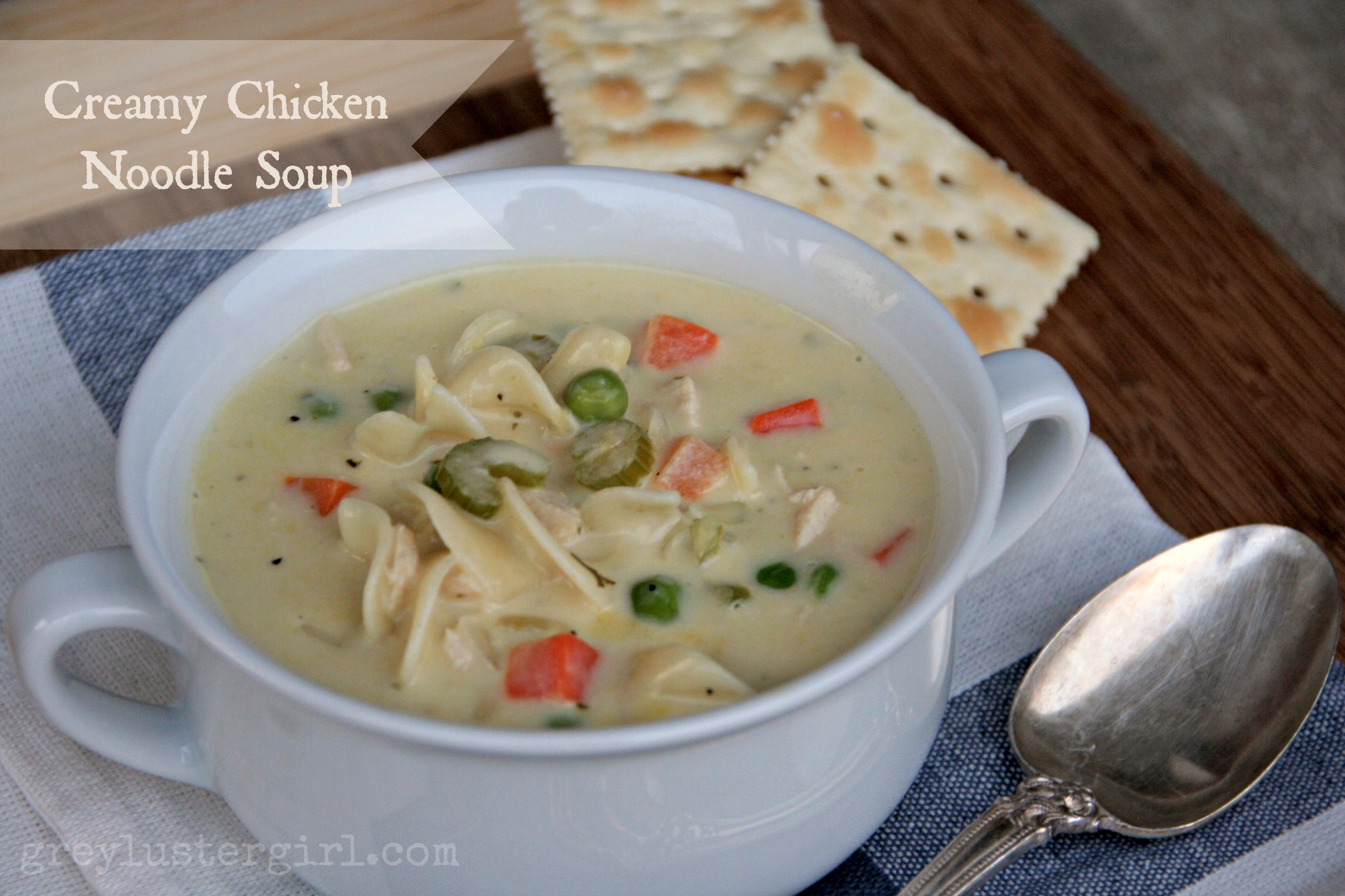 Creamy Chicken Soup Recipe  Creamy Chicken Noodle Soup